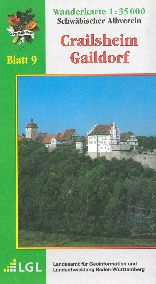 Wanderkarte Crailsheim - Gaildorf