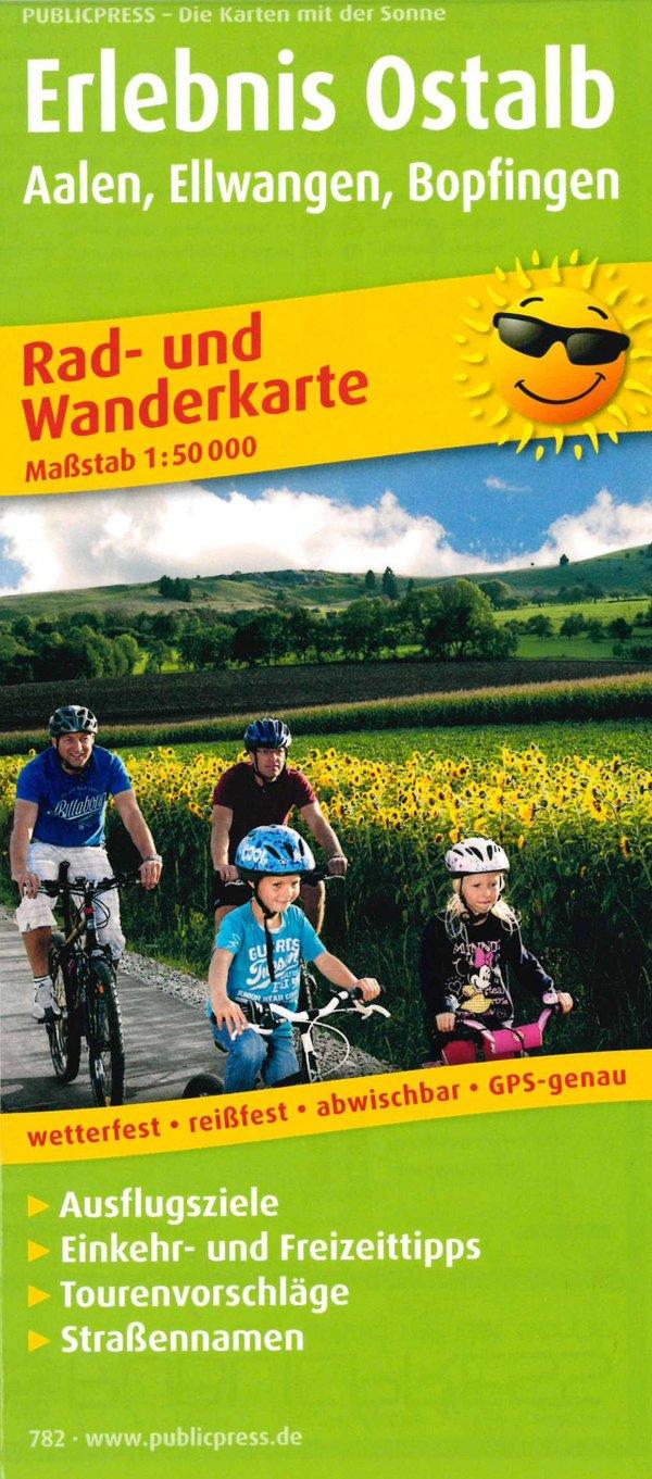 Rad- und Wanderkarte Erlebnis Ostalb